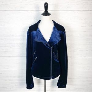 Belle Badgley Mischka • Velour Moto Jacket L